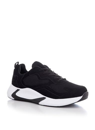Tonny Black Siyah Beyaz Unısex Spor Ayakkabı V2901 Siyah